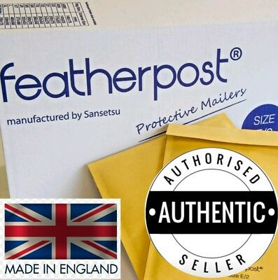 Bubble Padded Envelopes Lined White Gold Featherpost® Envelopes Mailers