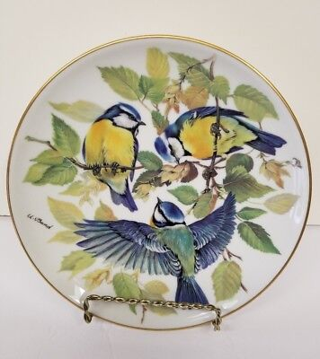 """""""Blaumeise"""" - 1st issue SONGBIRDS OF EUROPE Collector Plate by Ursula Band NICE!"""