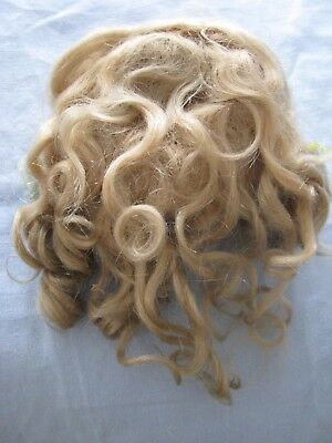 Beautiful Blonde *antique German Mohair Doll Wig*