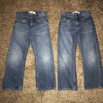 Lot Of Two Pairs Of Levi's 527 Bootcut Jeans Boys Size 7