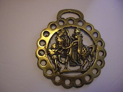 Horse Harness Brass Medallion Bridle Ornament KNIGHT ON A HORSE