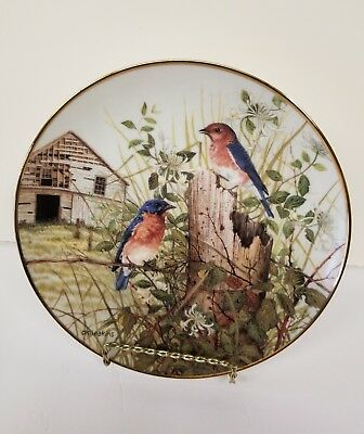 """Franklin Mint Heirloom Collector Plate -  """"  The  Old  Barnyard  """""""