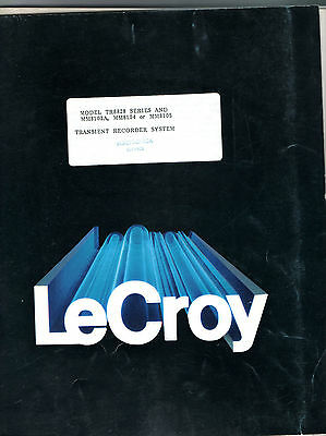 LeCROY - MODELS TR8828C AND MM8103A, 8104, 8105 = TECHNICAL INFORMATION MANUAL