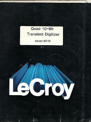 LeCROY - MODEL 8210 = QUAD 10-BIT TRANSIENT DIGITIZER  = TECH. INFO. MANUAL
