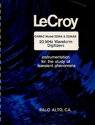 LeCROY - MODEL 2256A(S) = 20 MHz WAVEFORM DIGITIZER  = TECHN. INFORMATION MANUAL