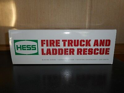 2015 Hess Toy Fire Truck And Ladder Rescue Mint Opened But Not Removed
