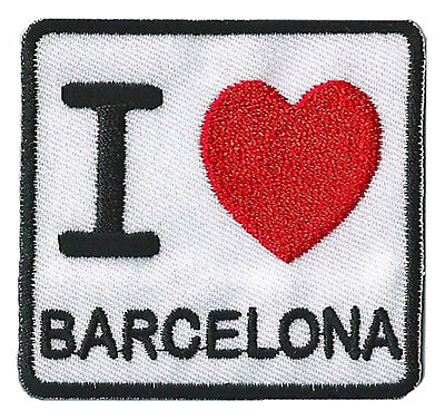 patch badge transfer I love Barcelona patch Barcelona Barca fusible