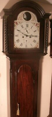 "Antique Mahogany Rocking Ship "" Lauder ""  Longcase / Grandfather Clock"