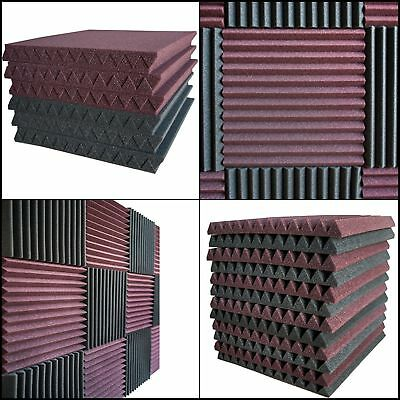12 Pack Acoustic Music Room Wall Panels Sound Proofing Foam Pads Studio Decor US