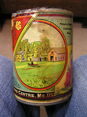 Vintage Early 20th Century Merrill Brothers Yarmouth Maine Vegetable Tin Can