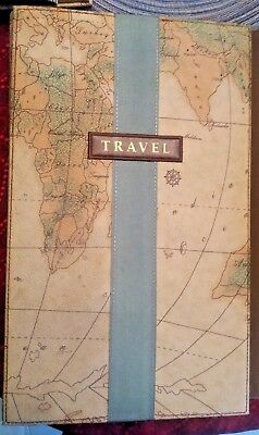 Old World Map Travel Photo Album 300 4x6 Family Love Memories Acid free sleeves