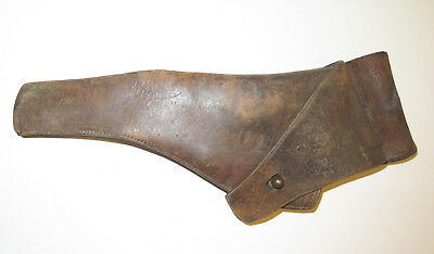 Early 1900s? Original Vintage Miltary Leather Holster.