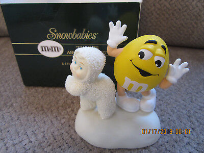 """2004 Dept 56 M&M's candy Snow babies """"I'm nuts about dancing"""" NIB F714371 3.25"""""""