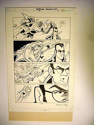 DC SUPERMAN Animated ADVENTURES Original Comic Art Page COMIC STRIP Style