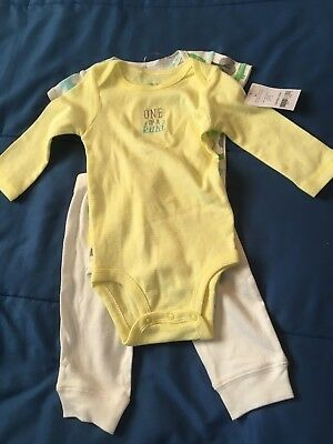 Carter's Neutral 3 Piece Outfit 6 Months *NEW W/TAGS*
