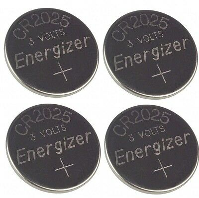 4 Pcs FRESH Genuine Energizer CR2025 ECR2025 3V Coin Button Battery Fast Ship