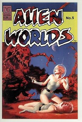 Alien Worlds 5 - Classic Cover - Sci-Fi Comics - 9.2 NM-