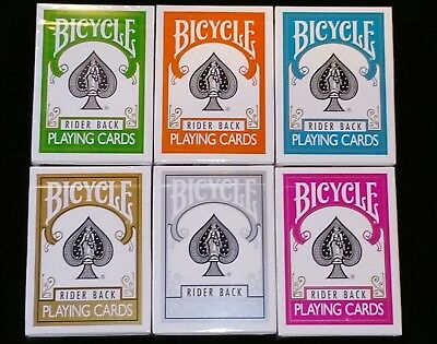 Lot of 6 Different New/Sealed Bicycle Playing Cards Decks Poker Magic Cardistry