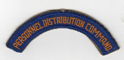 World War II US Army Air Force AAF Personnel Distribution Command Tab Patch