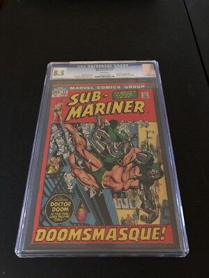 Sub-Mariner #47 CGC 8.5 Doctor Doom Appearance M.O.D.O.K. Cameo~White Pages