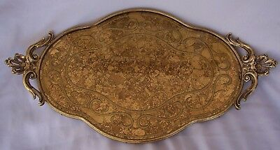 Vintage Vanity Perfume Dresser Tray Old Hollywood Unusual Must See Mint!