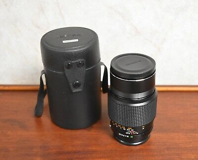 Vintage Konica Hexar AR 135mm f3.5 Camera Lens W/ Case & HOYA Filter