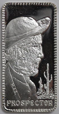 Vagabond Prospector 1 Troy Oz..999 Silver Proof Art Bar Hamilton Mint