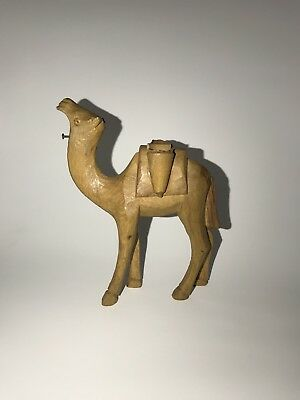 Small wooden toy camel