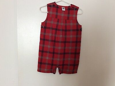 janie and jack boy - Size 12 To 18 Months - Plaid Red With Blk/gray