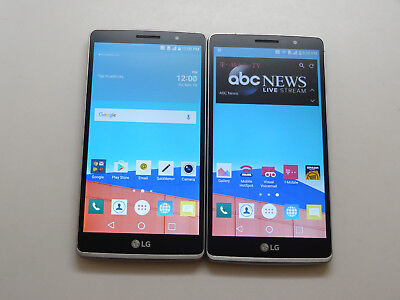 Lot of 2 LG LG G Stylo H631 16GB T-Mobile & GSM Unlocked Smartphones AS-IS GSM