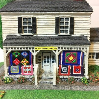 1993 Danbury Mint The Amish Heritage Collection Amish Quilt Shop