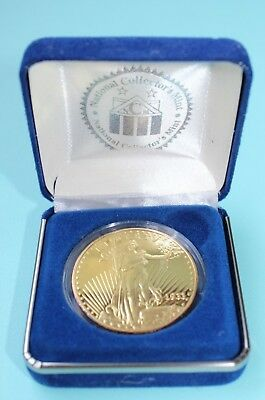 National Collectors Mint Liberty Gold Plated Twenty Dollar Coin - Copy