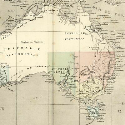 Australia New Holland Nouvelle Hollande 1855 Dufour old map Tooley #488
