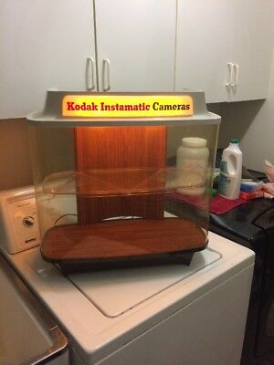 VINTAGE Kodak Camera Store Film Advertising Lighted Counter Camera Display Case