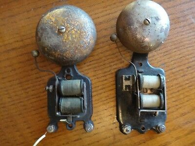 (2)  pair Antique, Vintage, Art Deco,Electric Door Bell Buzzer Hardware