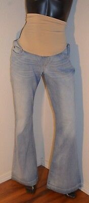 Women's A Pea In The Pod Maternity Jeans Size Large Full Panel Flare Jeans.#l03
