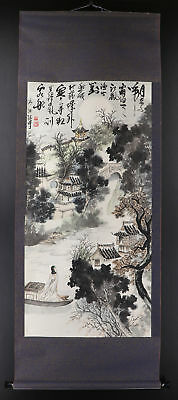 CHINESE HANGING SCROLL ART Painting   #E9295