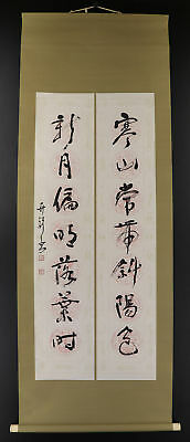 CHINESE HANGING SCROLL ART Calligraphy   #E9307