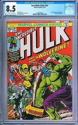 Incredible Hulk (1st Series) #181 1974 CGC 8.5 OW/W Pages