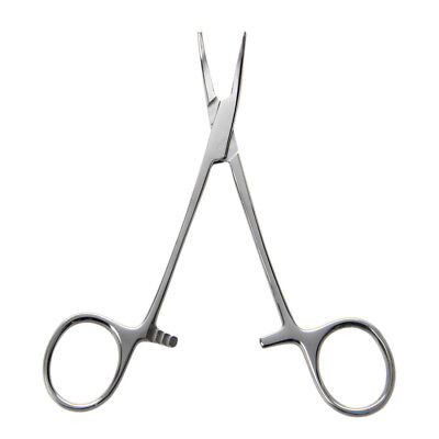 "5"" Fishing Hemostat Locking Clamps Forceps Stainless Steel Curved Tip A3M7"