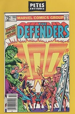 Defenders #100 Vf+ • 1981 Marvel • Giant Son Of Satan Hellcat Valkyrie Hulk-C2