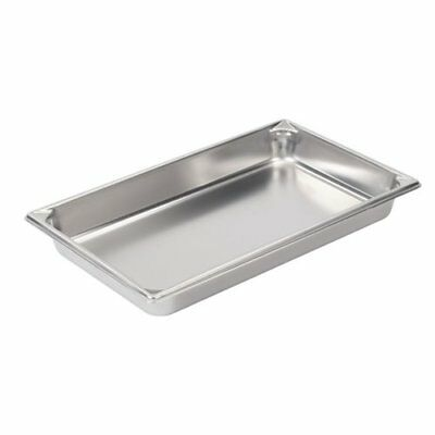"Vollrath 30022 2-1/2"" Deep Super Pan V Stainless Steel Full-Size Steam Table Pan"