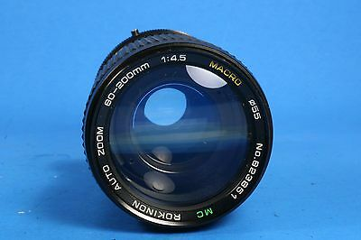 Rokinon MC Auto Zoom 80-200mm 1:4.5 Lens for Canon Film SLR Camera FD Mount