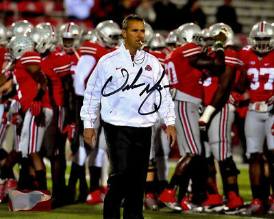 Urban Meyer Signed Photo 8X10 Rp Autographed Ohio State Buckeyes