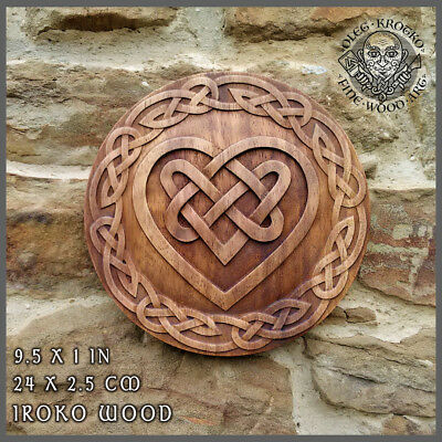Celtic Heart Knotwork Viking Home Decor Art Norse Thor Odin Wood Picture Pagan