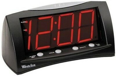 Digital Alarm Clock Extra Large Red LED Display Electric with Oversized Snooze