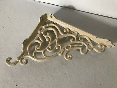 "Vintage Single Cast Iron Ornate Decorative Shelf Bracket 10 "" x 8.5"""
