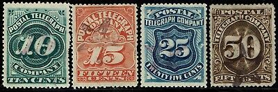 #15T1-4 1885 Postal Telegraph Co. Issues Used-Remainders