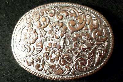 Vintage Chambers PHOENIX Sliver Plated over Copper RODEO AWARD Belt Buckle NOS