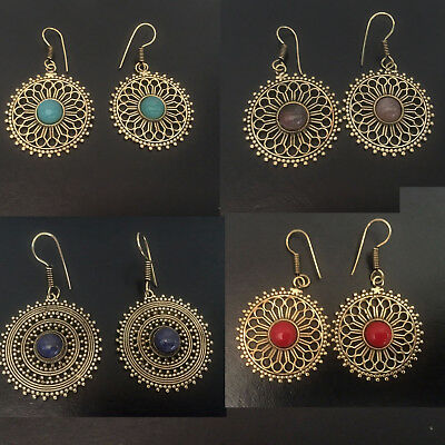 ANTIQUE GOLD GLOOK DROP EARRING   Made of Brass & in Gold Finish  Excellent meta